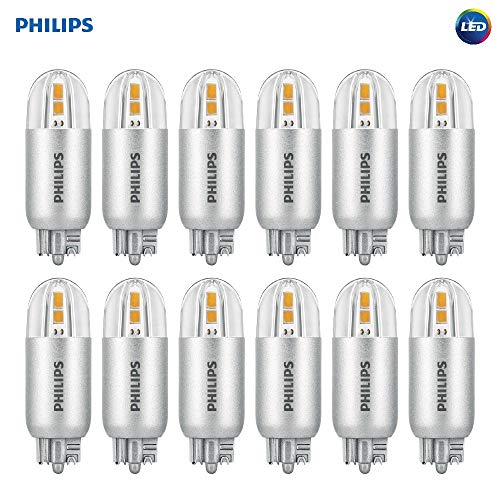 Philips LED 463455 18 Watt Equivalent Soft White Wedge Capsule T5, 12 Pack, 18W, Piece (Renewed) ()