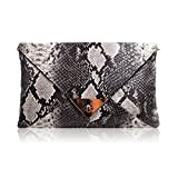 Orfila Women Envelope Clutch Handbag Snakeskin Chain Shoulder Crossbody Bag
