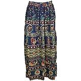 Womens Gypsy Fashion Maxi Skirt Animal Printed Flare Flirty Casual Summer Skirts S/M