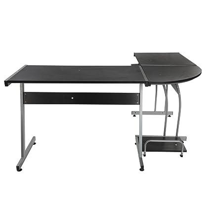 En forma de L concisa esquina escritorio para ordenador portátil ...