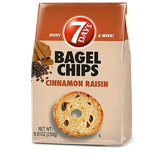 7Days Bagel Chips, Cinnamon Raisin, 3.17 Ounce Bag (Pack of 12)