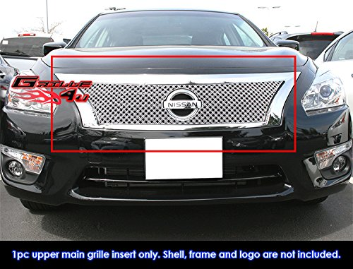 Nissan Wire Mesh Grilles (Fits 2013-2015 Nissan Altima Double Wire X Mesh Grille Inserts #NE5903S)
