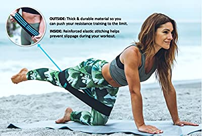 Booty Resistance Bands for Legs and Butt, Hip Circle Loops, Home Gym Accessories & Exercise Equipment | Great for Squats, Core, & Glute Activation | Non-Slip Technology, for Women & Men, Small & Med