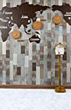 ROSEROSA Peel and Stick Engineered PVC Tiles Marble Granite Pattern Durable Vinyl Flooring