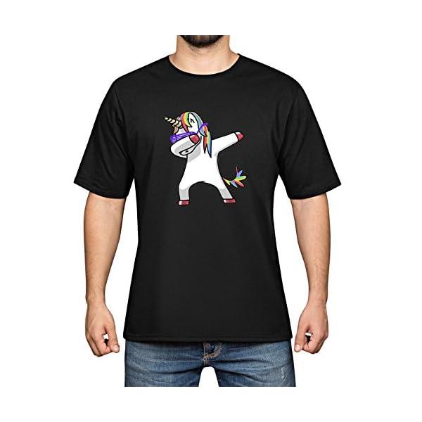 YAO STARS Rainbow Unicorn Printed Cotton Men's Funny Cool T-Shirts Short Sleeve Tops Tee 3