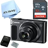 Canon SX620 Digital Camera w/25x Optical Zoom - Wi-Fi & NFC Enabled (Black) with Free SanDisk Ultra 32GB SDHC Class 10 Card