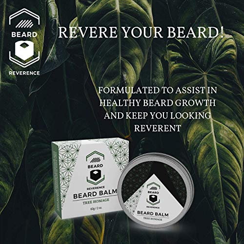 Eucalyptus Beard Balm - All Natural Ingredients – Refreshing Spa-Like Scent – Enhanced with Tea Tree, Argan, Jojoba Oils - Shape, Style, Condition & Soften Beards and Mustaches