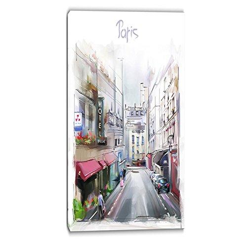 "Designart PT6669-20-40 ""Paris Illustration Cityscape Digi..."