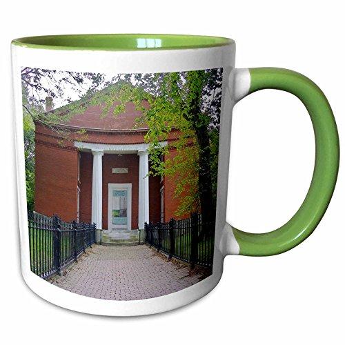 3dRose Danita Delimont - Massachusetts - Massachusetts, Coffin School, Egan Maritime Institute - US22 SPE0378 - Susan Pease - 11oz Two-Tone Green Mug - Egan Outlet