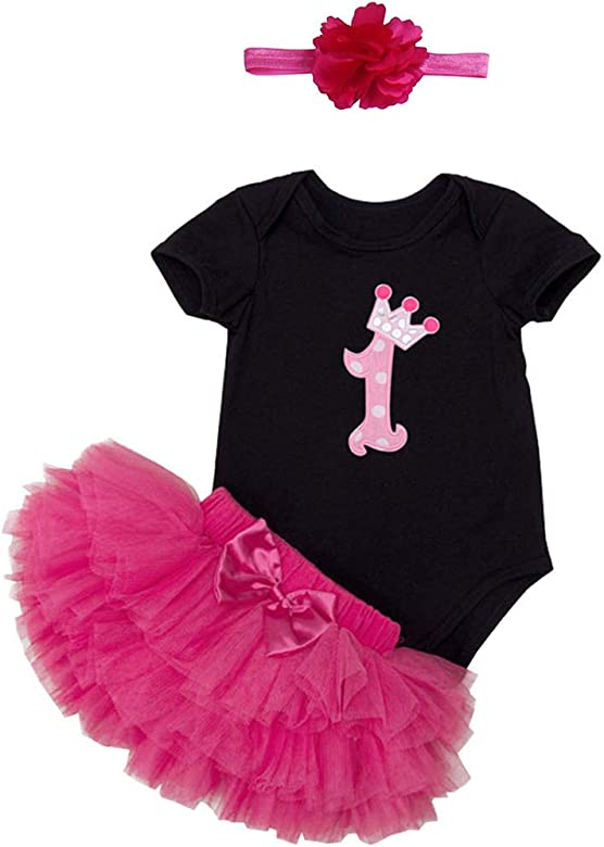 BabyPreg Bebé Traje de Niña de Primer Cumpleaños Vestido de ...