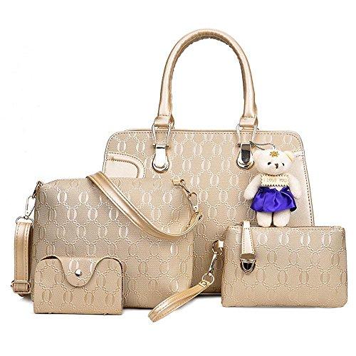 Aoligei Sac à main féminin de cinq paquet sac ours de bébé unique épaule Lady A