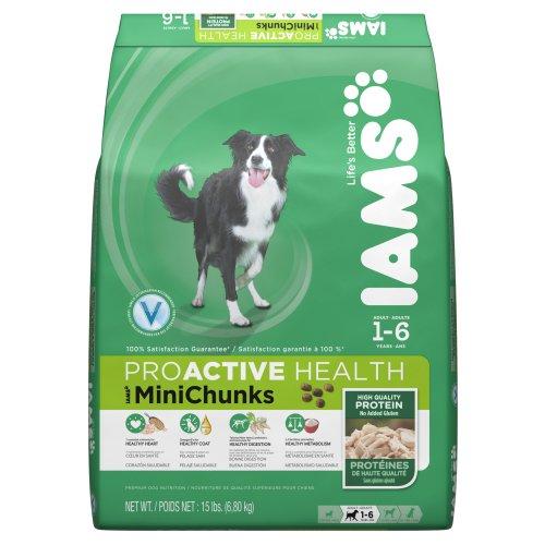 Iams ProActive Health Adult Mini Chunks Premium Dog Nutrition Food, 15-Pound, My Pet Supplies