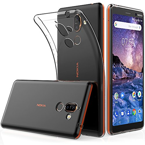 Peakally Nokia 7 Plus Case, Soft TPU Transparent Protector Case Cover for  Nokia 7 Plus 6 0