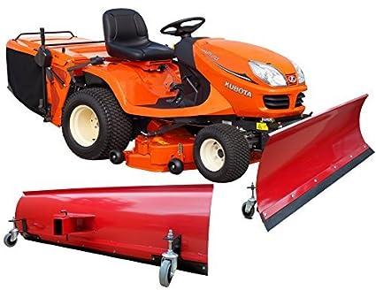 BEBV – Hoja quitanieves universal con ruedas 200 x 40 cm Rojo Tractores Cortacésped, quads