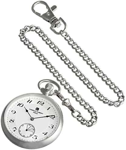 Charles-Hubert, Paris 3955-W Premium Collection Analog Display Mechanical Hand Wind Pocket Watch