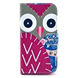 Lurashop Luxury Cute Wallet Case Lg G2 D802 Wallet Case with Built-in Card Slots & Stand Flip Leather Protective Wallet Case Cover for Lg G2 D802 (Owl Rose)