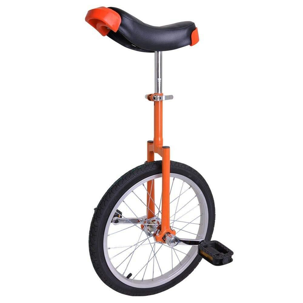 AyaMastro Portable Orange 18'' Wheel Unicycle Exercise Cycling with Ebook