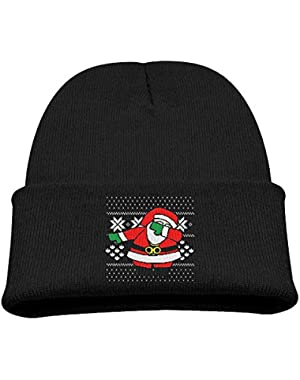 Dabbing Santa Claus Ugly Christmas Boy Girl Beanie Hat Knitted Beanie Knit Beanie