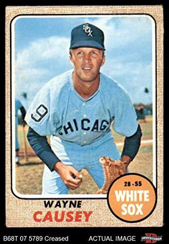 1968 Topps # 522 Wayne Causey Chicago White Sox (Baseball Card) Dean's Cards 3 - VG White Sox