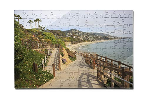 Laguna Beach, California-Coastline View-Photography A-92946 (12x18 Premium Acrylic Puzzle, 130 Pieces) ()