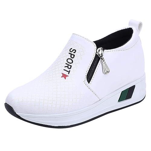 Zapatillas Mujer Señoras Para mujeres Plataforma Cuña Deportivas fvY76gby