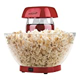 BRENTWOOD PC-490R Jumbo 24-Cup Hot Air Popcorn Maker, Red, 11.5×17.25×7
