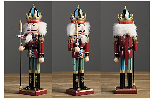 Nutcracker Soldiers Gift Set from Spring Country | Great Decoration Figure Collection to Share a Memory with | Christmas | New Wooden Puppets | 12 inch Toys Holiday Ornament | 4 Pieces Toy Set by Spring Country (Image #4)