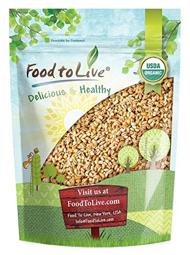 Food to Live Organic Pearled Barley (Non-GMO, Kosher, Vegan, Raw, Bulk Grain, Product of the USA) — 1 Pound