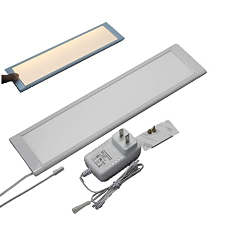 premium selection f6117 ab799 LED Under Cabinet Lighting, LED Under Counter/Shelf/Cupboard Light,Dimmable  & linkable, 12 inch Long 8mm Slim, with Touch Dimming Sensor and Adapter ...