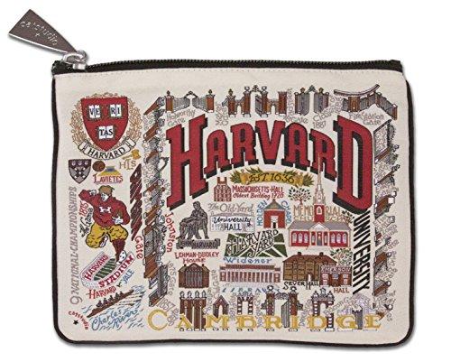 Catstudio Harvard University Zip Pouch   Use as Wallet, Clutch, Handbag or Makeup Bag