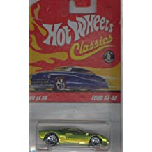 Hot Wheels Classics Series 2 2005 9 of 30 GREEN FORD GT-40 1:64 Scale Die Cast Body & Chassis Special Paint
