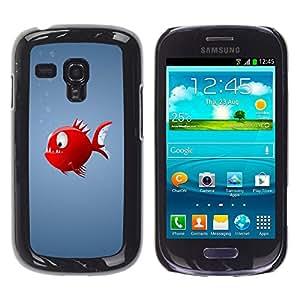 Stuss Case / Funda Carcasa protectora - Red Piranha Fish - Samsung Galaxy S3 MINI 8190