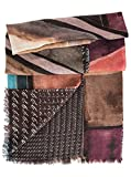 Elizabetta Womens Double Sided Wool Scarf Wrap Shawl, Made in Italy