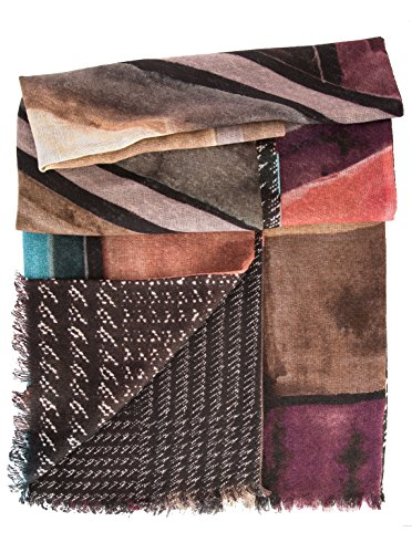 Elizabetta Womens Double Sided Wool Scarf Wrap Shawl, Made in Italy by Elizabetta