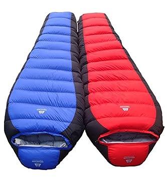 SUHAGN Saco de dormir Bolsa De Dormir De Pluma Gruesa Exterior De Adultos Bolsas De Dormir Camping - 30°C ?: Amazon.es: Deportes y aire libre