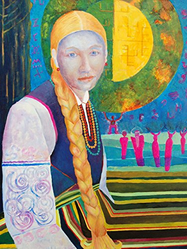 Costumes Gallery Discount (Poland POSTER print A3 Polish folk art Traditional Lowicz Costume Dress artwork Painting Polska Gift Wall Art Decor for Home Living Room)