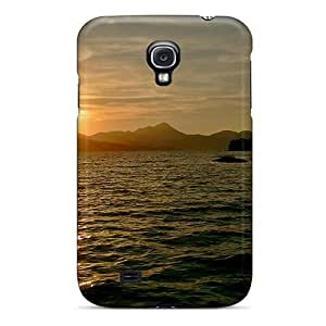 Durable Sunset Over Lake Back Case/cover For Galaxy S4 by icecream design