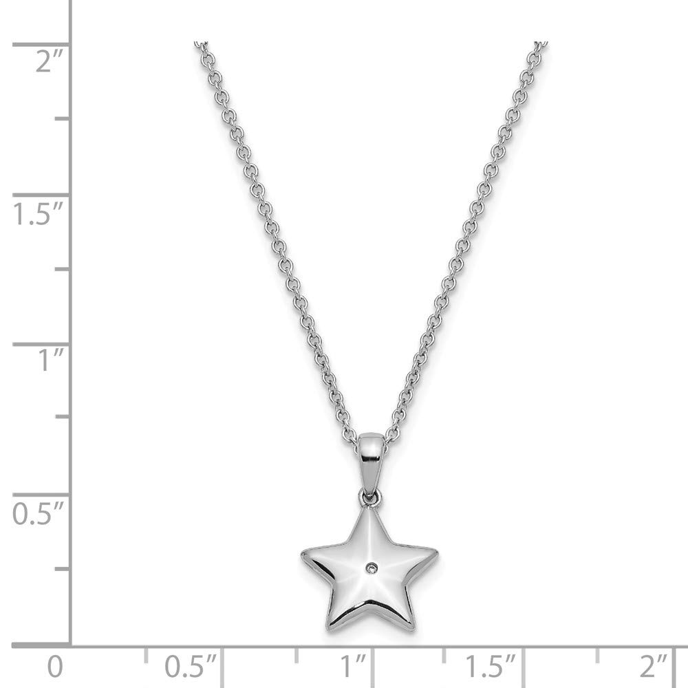 Chain Necklace 2in Extension Pendant Charm Inspirational Sun Moon Star Fine Jewelry Gifts For Women For Her 925 Sterling Silver Cubic Zirconia Cz Dream Big 14in