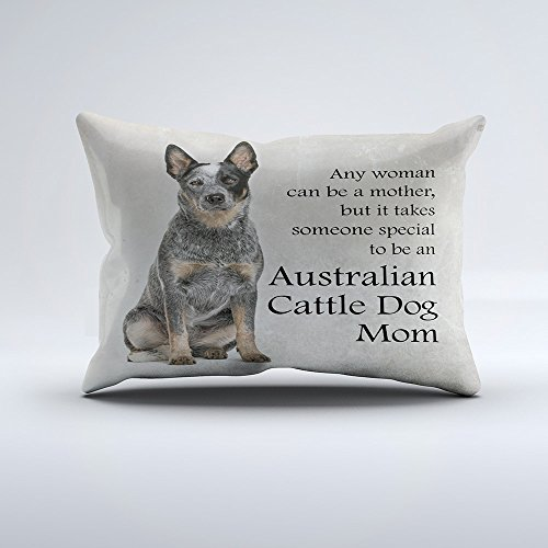 Zippered Pillow Covers Pillowcases 16x24 Inch Australian Cattle Dog Mom Pillow Pillow Cases Cushion Cover for Home Sofa Bedding