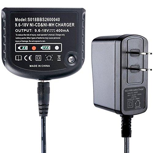 Biswaye 12V 14.4V 18V Dual Chemistry Battery Charger 90556254-01 for Black & Decker 9.6V-18V NiCad & NiMh Battery HPB18 HPB18-OPE FSB18 HPB14 FSB14 HPB12 FS12B HPB96 FSB96 by Biswaye