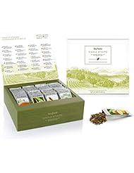 Tea Forté SINGLE STEEPS Loose Tea Sampler, Assorted Variety TEA CHEST Gift Set, 28 Different Single Serve Pouches - Black Tea, Green Tea, White Tea, Herbal Tea
