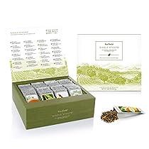 Tea Forte Single Steeps Loose Leaf Tea Chest, 28 Single Serve Pouches - Black Tea, Green Tea, White Tea, Herbal Tea