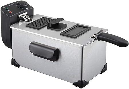 Grunkel - FR-3522 XT - Freidora eléctrica 3,5 litros de Capacidad y Temperatura Ajustable. Protección contra sobrecalentamiento - 2200W - Acero Inoxidable: Amazon.es: Hogar