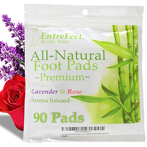 Dr. Entre's Foot Pads: Organic All Natural Formula for Impurity Removal, Pain Relief, Sleep Aid, Relaxation | Aroma Infused 90 Pack