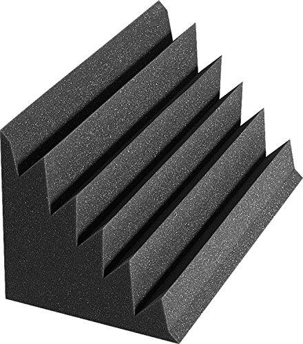 (Auralex Acoustics Sound Damping Products, DST-LENRD Charcoal Bass Traps - 8 Pack - 12