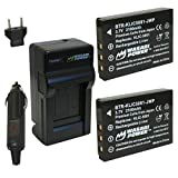 Wasabi Power Battery (2-Pack) and Charger for Sanyo DB-L50, DB-L50AU and Sanyo VPC-FH1, VPC-FH1A, VPC-HD1000, VPC-HD1010, VPC-HD2000, VPC-HD2000A, VPC-TH1, VPC-WH1