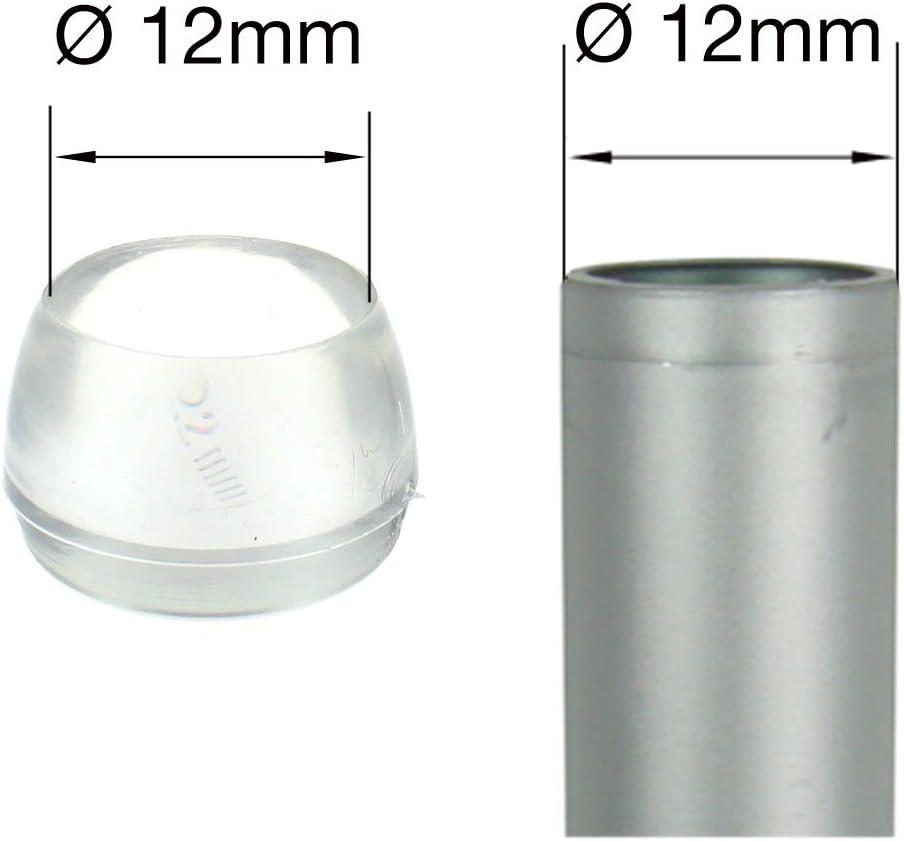 diff/érentes quantit/és//tailles pour pieds de meubles Lifeswonderful/® 12 mm Lot de 4 Embouts transparents