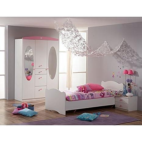 Kinderzimmer 3-teilig weiß / rosa Jugendzimmer ...