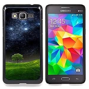 GIFT CHOICE / Teléfono Estuche protector Duro Cáscara Funda Cubierta Caso / Hard Case for Samsung Galaxy Grand Prime G530H / DS // Starry Night Meadow Tree Nature Mystic //
