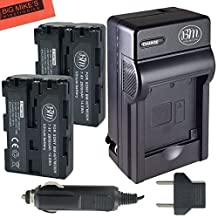 Qty 2 NP-FM500H Batteries and Battery Charger for Sony Alpha SLT-A57 SLT-A58 SLT-A65V SLT-A77V SLT-A99V SLT-A100 SLT-A200 SLT-A300 SLT-A350 SLT-A450 SLT-A500 SLT-A550 SLT-A560 SLT-A580 SLT-A700 SLT-A850 SLT-A900 DSLR Digital Camera + More!!